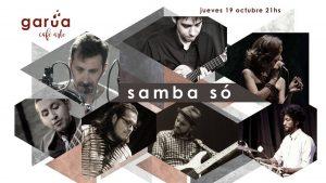 Afiche Concierto Samba Só con Claude_oct 2017